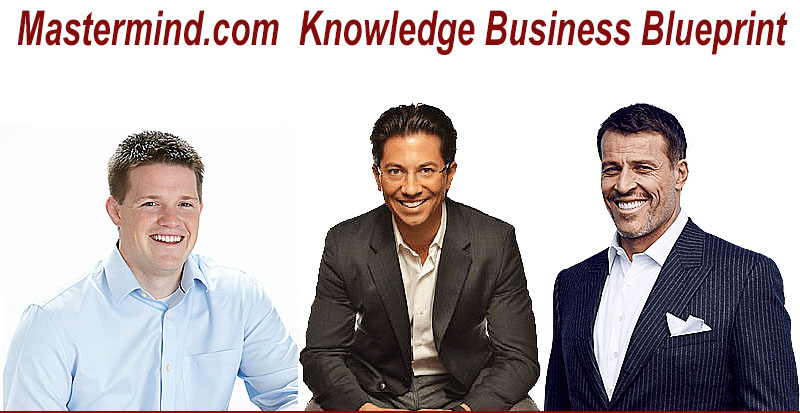 Tony Robbins Dean Graziosi and Russell Brunson Knowledge Business Blueprint Mastermind.com